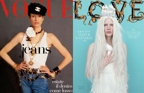 Kristen McMenamy'nin Lover dergisine verdiği bu poz, Voge Italia'nın kapağındaki ikonuk pozundan tam 20 yıl sonraydı.