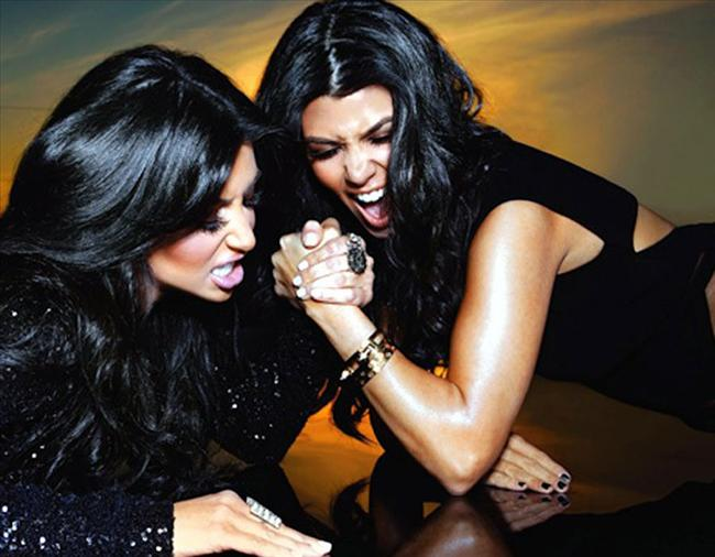 Kim ve Courtney Kardashian
