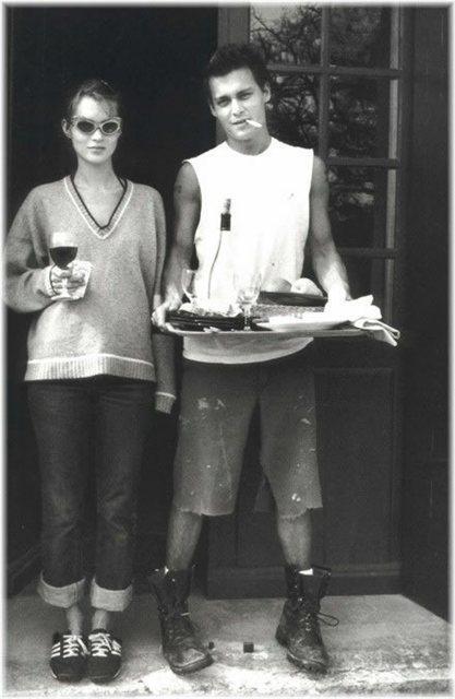 Kate Moss ve Johnny Depp