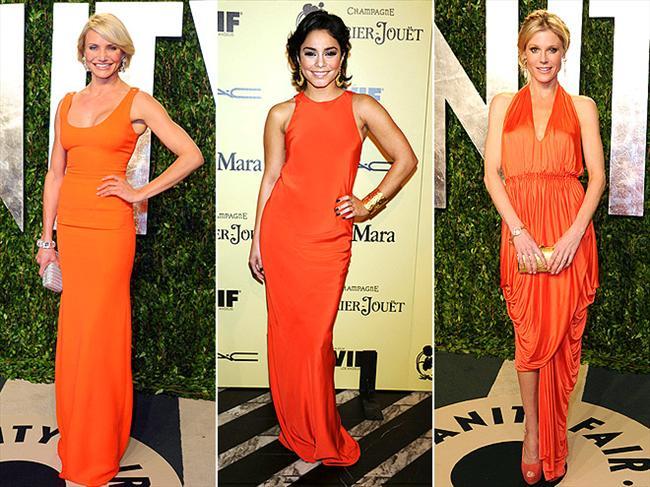 Özellikle yaz davetlerinde ve düğünlerinde turuncu abiye kıyafetleri kesinlikle öneriyoruz. Cameron Diaz, Vanessa Hudgens ve Julie Bowen de bizimle aynı fikirde.   Yaz modasının en trendy ürünleri burada!
