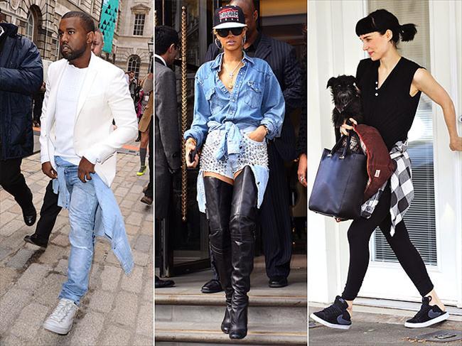 Kanye West, Rihanna ve Rooney Mara gömlekler için yeni bir kullanım alanı keşfettiler: kalçaya bağlamak.  Yaz modasının en trendy ürünleri burada!