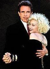 Madonna ve Warren Beatty, Dick Tracy filminin seti devam ederken ilişkileri vardı. Ama kısa sürdü.