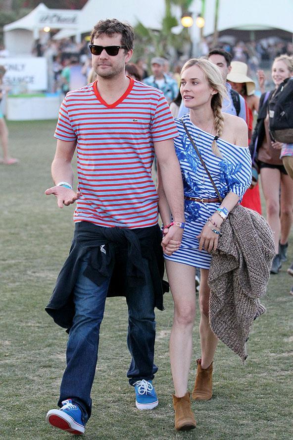 Amerika'nın en ünlü festivallerinden Coachella başladı... Ünlü kadınlar da en hip görünümleri ve sokak stilleriyle festival alanında arz-ı endam ettiler.  Diane Kruger ve Joshua Jackson