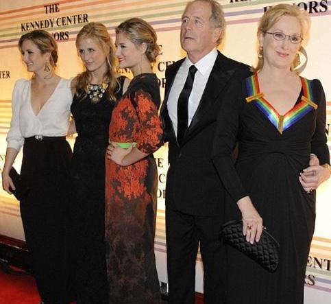 Ünlü yıldız Meryl Streep. Babaları da heykeltıraş Don Gummer.