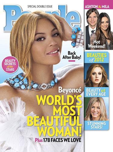 """Dünyaca ünlü şarkıcı Beyonce """"People"""" dergisi tarafından """"Dünyanın en güzel kadını"""" seçildi."""