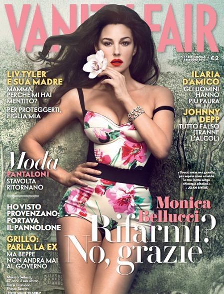 Ünli İtalyan yıldız Monica Belluci, Vanity Fair dergisinin Mayıs sayısının kapağını süsledi. 40 yaşını devirmesine rağmen hala harika görünen Belluci, neden dünyanın en güzel kadınlarından biri sayıldığını kanıtlar gibiydi...