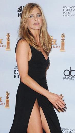 Jennifer Aniston yırtmaç kurbanı.