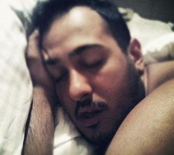 Sarp Apak'ın uyku anı.