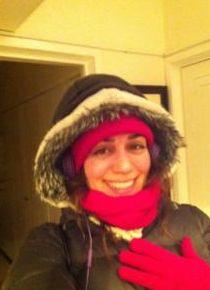 Borak'ın notu: Kar sonrası kırmızı yanaklar.