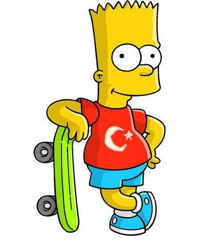 Profil fotoğrafına Türk bayraklı tişört giymiş Bart Simpson'ı koyan ünlü kim sizce..