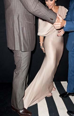 Kim Kardashian'ın etek kazası.
