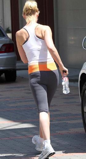 Grey's Anatomy dizisi ile yıldızı parlayan Katherine Heigl önceki gün spor salonuna girerken görüntülendi.