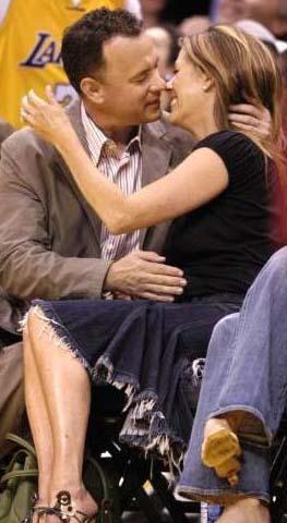 Tom Hanks ve Rita Wilson'ın basketbol maçı romantizmi.