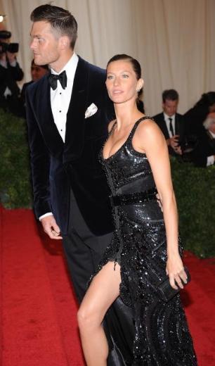 Gisele Bundchen geceye eşi Tom Brady ile birlikte katıldı.