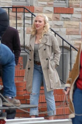 Scarlett Johansson, Vicky, Christina, Barcelona filminin setinde.
