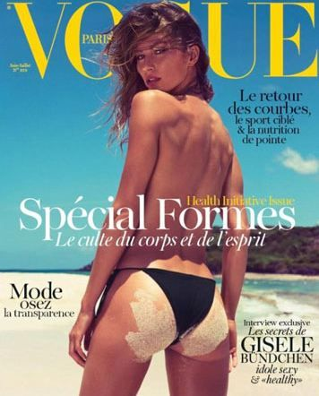 Dünyanın en güzel ve en çok kazanan modellerinden Gisele Bundchen Vogue için objektif karşınsına geçti. Dergisi için üstsüz poz veren 31 yaşındaki Gisele güzelliğinin doruğunda olduğunu ispat etti. Neden? İngiltere'de yapılan bir araştırmaya göre kadınlar 31 yaşındayken güzelliklerinin doruk noktasına erişiyor.