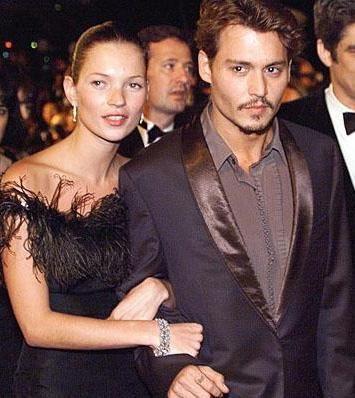 Kate Moss ve Johnny Depp, uzun süre büyük aşk yaşadılar.