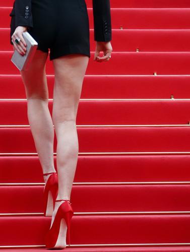 Herzigova, 64. Cannes Film Festivali kapsamında gösterilen The Conquest filminin galasına katıldı ve kırmızı halıda tüm bakışları üzerinde toplamıştı.