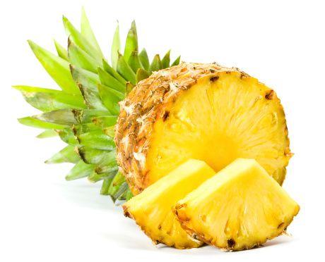 Ananas:   Hazımsızlığın giderilmesinde, yaraların kapanmasında, iltihaplanmaların azaltılmasında yardımcı olan bromealin isimli maddeyi içeriyor. 1 kase ananasta, kan şekerini düzenleyen deri, kemik ve kıkırdak oluşumunu sağlayan manganezden yeterli miktarda bulunuyor.