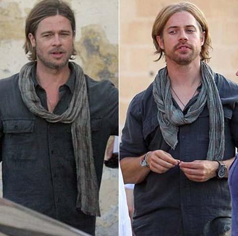 Brad Pitt ve dublörü