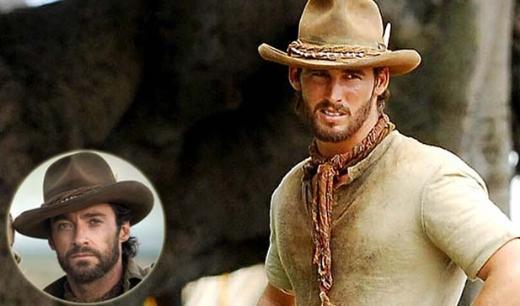 Hugh Jackman ve Avustralya filmindeki dublörü.