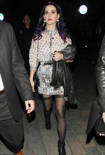 Ünlü şarkıcı Katy Perry gece eğlencesi sonrası kameralara böyle yakalandı.