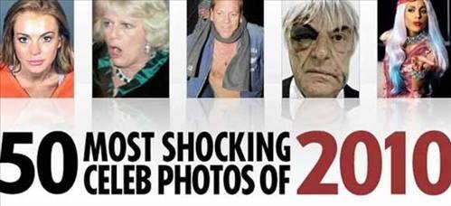İngiltere'de yayın yapan The Sun Gazetesi ünlülerin şoke eden anlarını yayınladı.