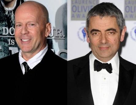 Bruce Willis ve Rowan Atkinson İkisi de 1955 doğumlu. Ama doğa Willis'e daha iyi davranmış.