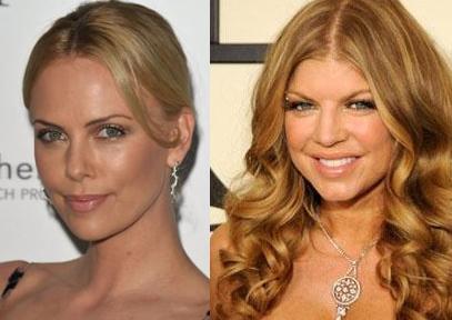 Charlize Theron ve Fergie Theron yaşıtı Fergie'den de daha genç görünüyor.