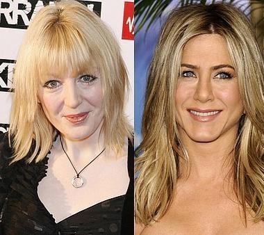 Yvette Fielding ve Jennifer Aniston  İkisi de 1969 doğumlu ama Fielding biraz daha yaşlı görünüyor.
