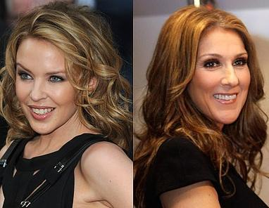 Kylie Minogue ve Celine Dion İkisi de 1969 doğumlu. Ama Minogue daha bakımlı gibi..