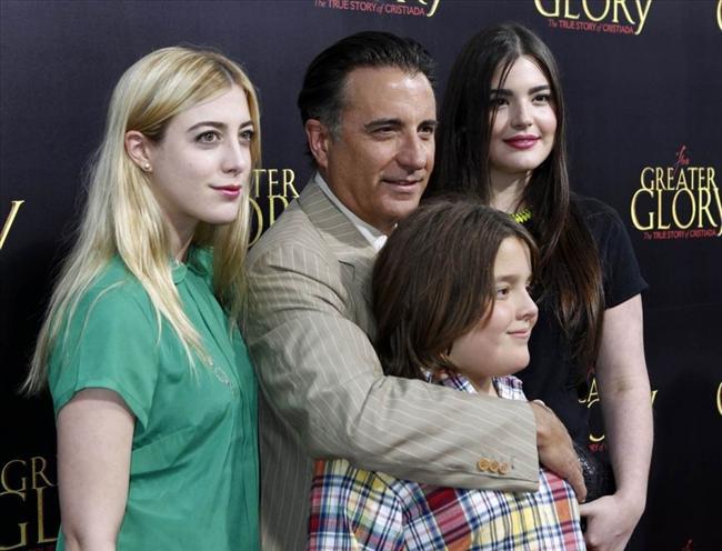 Andy Garcia. Andreas ve kızı danielle, ve Dominika