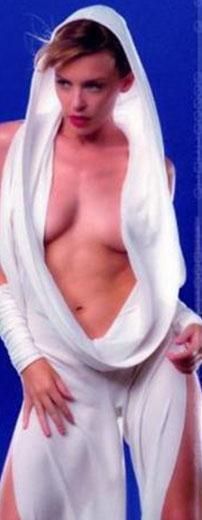 Kylie Minogue'un bir klip için kullandığı giysinin aynısı..