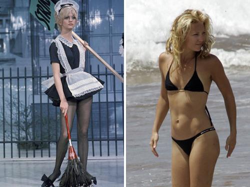 Hollywood'un ünlü anneleri güzelliklerini devrettikleri ünlü kızlarıyla dikkatleri çekiyor..  (Goldie Hawn – Kate Hudson)