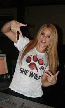 Shakira'nın stüdyo hatırası.