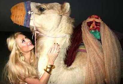 Paris Hilton'un Ortadoğu gezisinden.