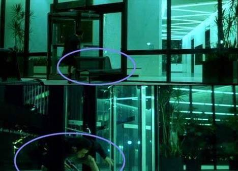 Filmin sonlarına doğru Edward Norton boş binanın önüne doğru koşar ve camları bir bank ile kırmaya çalışır ancak başarılı olamaz.(Üstteki resim) Bankı olduğu yere bırakır ve cama ateş ederek camı kırıp içeri girer. Kamera binanın içine girişini çekerken arkadaki bank bir anda kaybolur. 28.07.2012