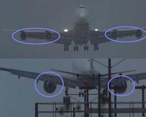 The Usual Suspects (Olağan Şüpheliler)   Uçağın motorlarının yok olması Polis arabasının soyulduğu sahnenin hemen öncesinde dört motorlu bir Boeing 747'nin iniş yaptığını görüyoruz ancak uçağın arkadan çekildiği sahnede ise bir anda iki motorun kaybolduğunu görebilirsiniz. Muhtemelen bu sahnedeki bir Boeing 767'ydi.
