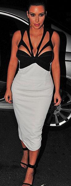 31 yaşındaki reality show yıldızı Kim Kardashian önceki akşam bir derginin New York'ta düzenlenen partisine katıldı.