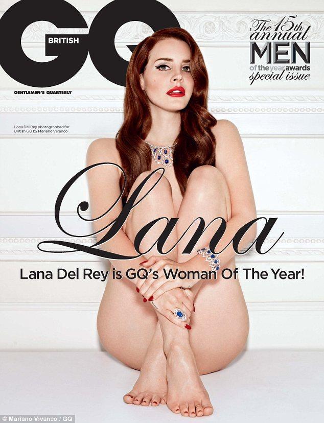Amerikalı şarkıcı Lana Del Rey, GQ dergisi için objektif karşısına çıplak geçti.
