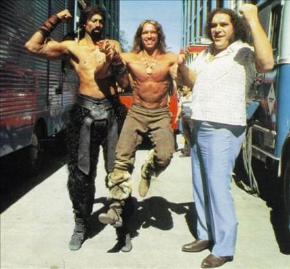 Wilt Chamberlain, Arnold & Andre the Giant