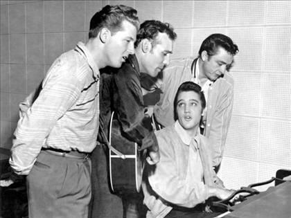 Jerry Lee Lewis, Carl Perkins, Elvis & Johnny Cash