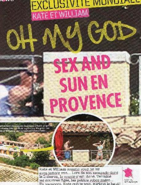 Closer dergisi dünyayı ayağa kaldıran fotoğrafların önceki hafta Kate ile William'ın Fransa'da yaptıkları tatil sırasında çekildiğini açıkladı.
