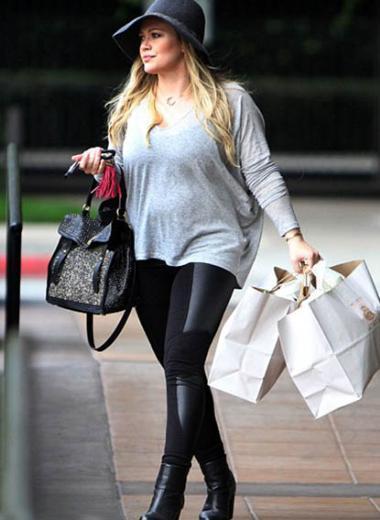 Hilary Duff, eşi Mike Comrie'nin de fazla kilolarından rahatsız olmadığını söylüyor.