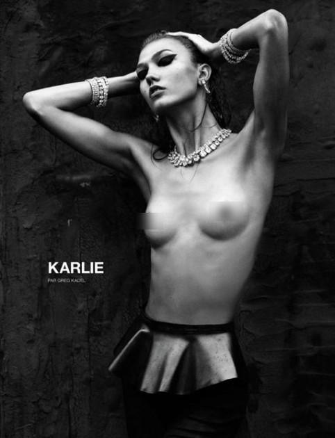 Son dönemin gözde mankenlerinden Karlie Kloss ve neredeyse dışarıdan bile rahatlıkla sayılabilecek kaburga kemikleri moda dünyasında yeni bir tartışma yarattı.  Uluslararası moda dergisi Numero'nun Ekim sayısı için objektif karşısına geçen 20 yaşındaki Kloss'un üstsüz fotoğrafı ilk bakışta görenlerde hayranlık uyandıracak gibiydi. Kloss, bu fotoğrafta gerçekten de etkileyici görünüyordu. Ancak işin aslı sonradan ortaya çıktı.