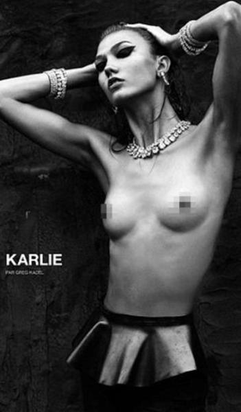 Son dönemin gözde mankenlerinden Karlie Kloss ve neredeyse dışarıdan bile rahatlıkla sayılabilecek kaburga kemikleri moda dünyasında yeni bir tartışma yarattı