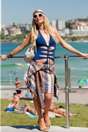 Hilton otellerinin varisi Paris Hilton ve sevgilisi Las Vegas'ı da birbirine kattı.