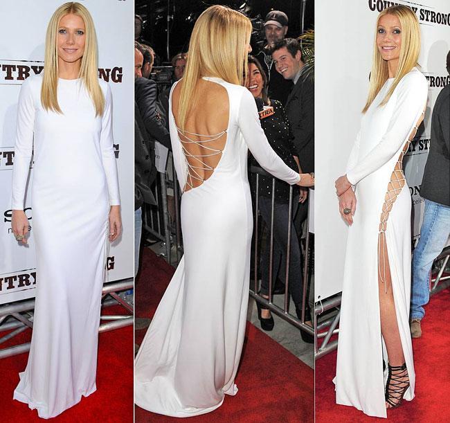 Şancı, Oscarlı oyuncu Gwyneth Paltrow'un 2 yıl önce bir galada giydiği modacı Emilio Pucci imzalı kıylafetiyle bütün bakışları üzerinde topladı.