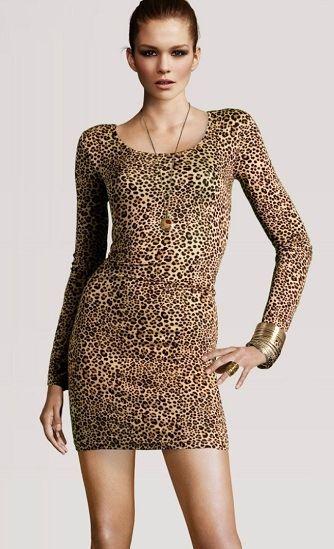 Leoparlı elbise