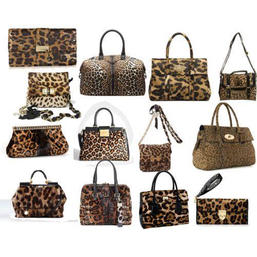 Leoparlı çantalar